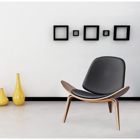 Fine Mod Imports FMI1162-black Shell Chair, Black - Peazz.com - 7