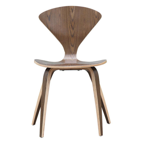 Fine Mod Imports FMI1206-walnut Wooden Side Chair, Walnut - Peazz.com - 6