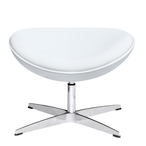 Fine Mod Imports FMI1208-L-white Inner Ottoman Leather, White - Peazz.com - 1