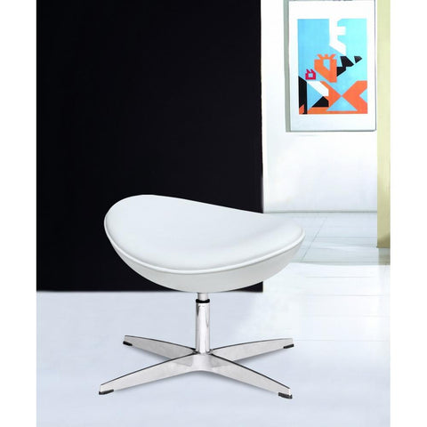 Fine Mod Imports FMI1208-L-white Inner Ottoman Leather, White - Peazz.com - 7