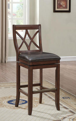 American Heritage Billiards 130180 Hadley Bar Height Stool in Sable