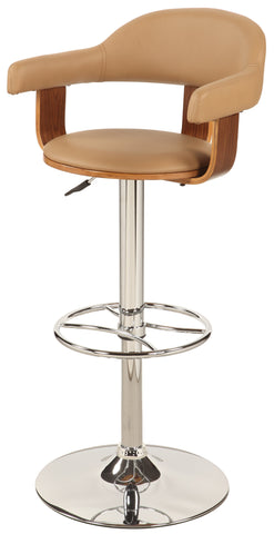 Chintaly 1386-AS-TPE Upholstered Back Pneumatic Swivel Stool