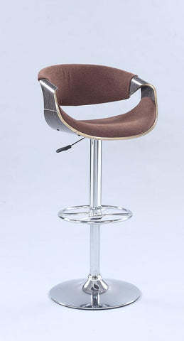 Chintaly 1396-AS-BRW Pneumatic bentwood saddle seat adjustable stool