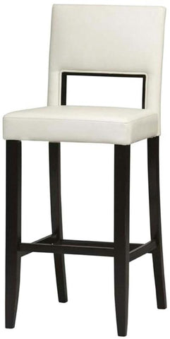 Linon 14053WHT-01-KD-U Vega Counter Stool White 24