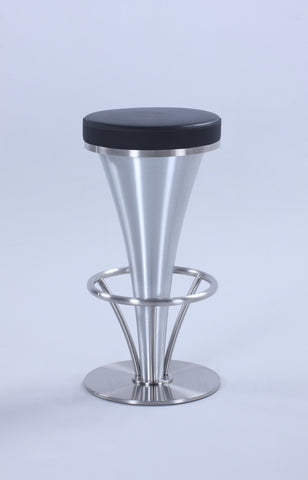"Chintaly 1671-CS-BLK ""V"" Pedestal Counter Stool"