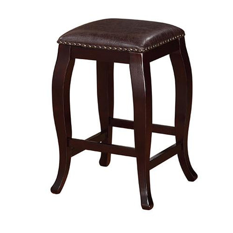 Linon 178204BRN01 San Francisco Square Top Counter Stool - Brown