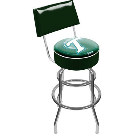 Tulane University Clc1100-Tul Tulane University Padded Swivel Bar Stool With Back