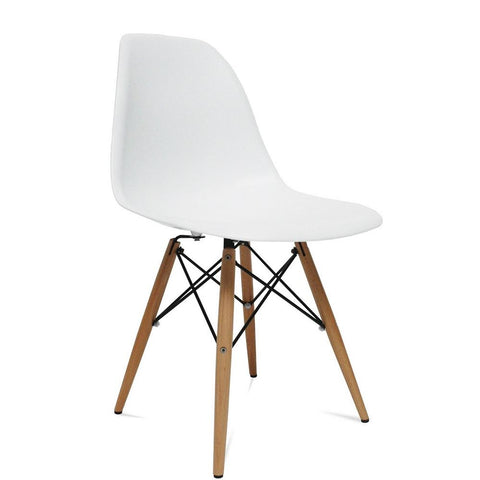 Fine Mod Imports FMI2012-white WoodLeg Dining Side Chair, White - Peazz.com - 1