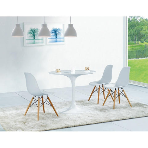 Fine Mod Imports FMI2012-white WoodLeg Dining Side Chair, White - Peazz.com - 5