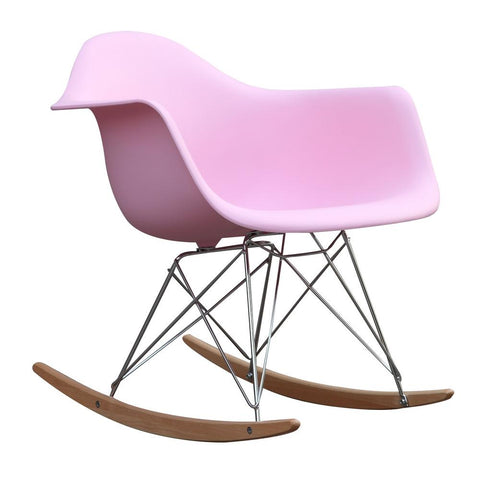 Fine Mod Imports FMI2013-pink Rocker Arm Chair, Pink - Peazz.com - 1