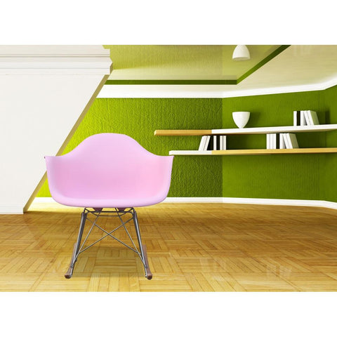 Fine Mod Imports FMI2013-pink Rocker Arm Chair, Pink - Peazz.com - 7