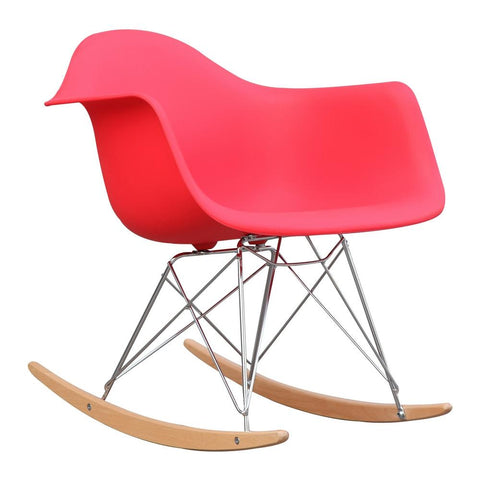 Fine Mod Imports FMI2013-red Rocker Arm Chair, Red - Peazz.com - 1