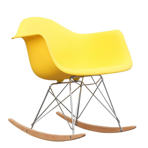 Fine Mod Imports FMI2013-yellow Rocker Arm Chair, Yellow - Peazz.com - 1