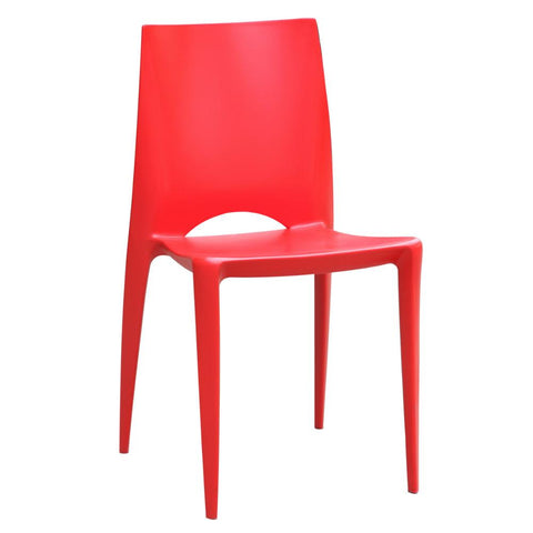 Fine Mod Imports FMI2015-red Square Dining Chair, Red - Peazz.com - 1