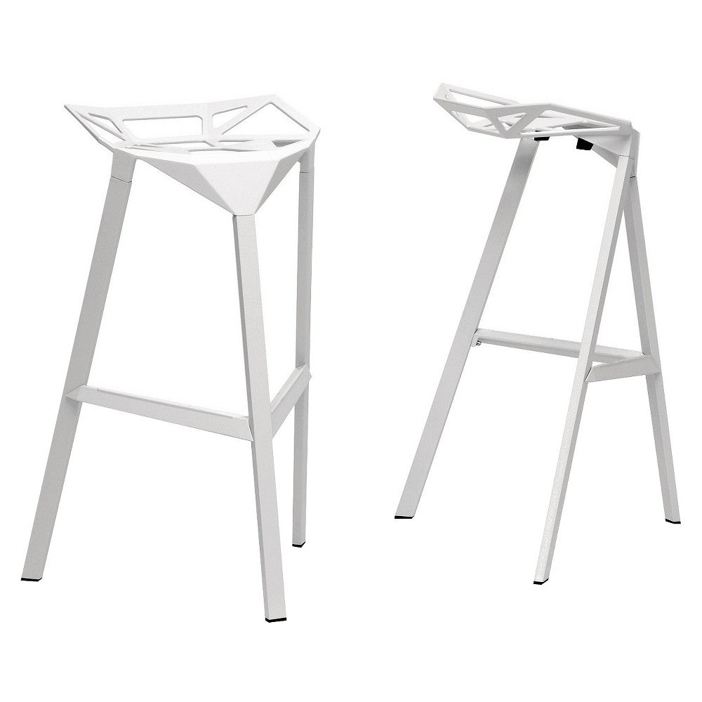 Astounding Wholesale Interiors Bs 363 White Kaysa White Aluminum Modern Ibusinesslaw Wood Chair Design Ideas Ibusinesslaworg