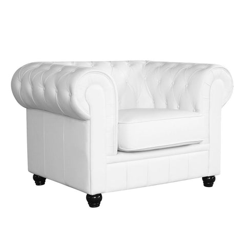 Fine Mod Imports FMI2198-white Chestfield Chair, White - Peazz.com - 1