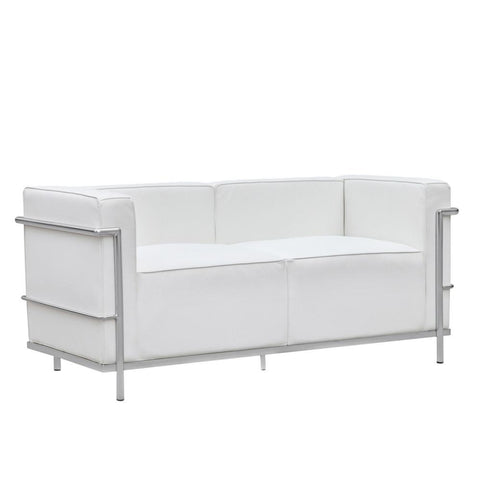 Fine Mod Imports FMI2203-white Grand Lc3 Loveseat, White - Peazz.com - 1