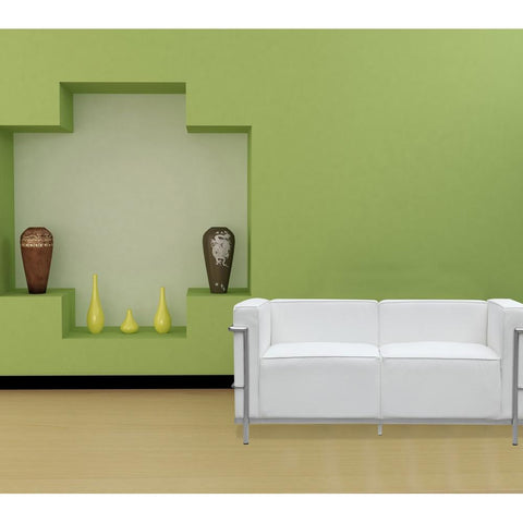 Fine Mod Imports FMI2203-white Grand Lc3 Loveseat, White - Peazz.com - 7
