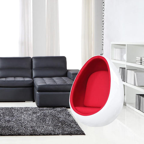 Fine Mod Imports FMI2208-white Egg Hanging Chair, White - Peazz.com - 7