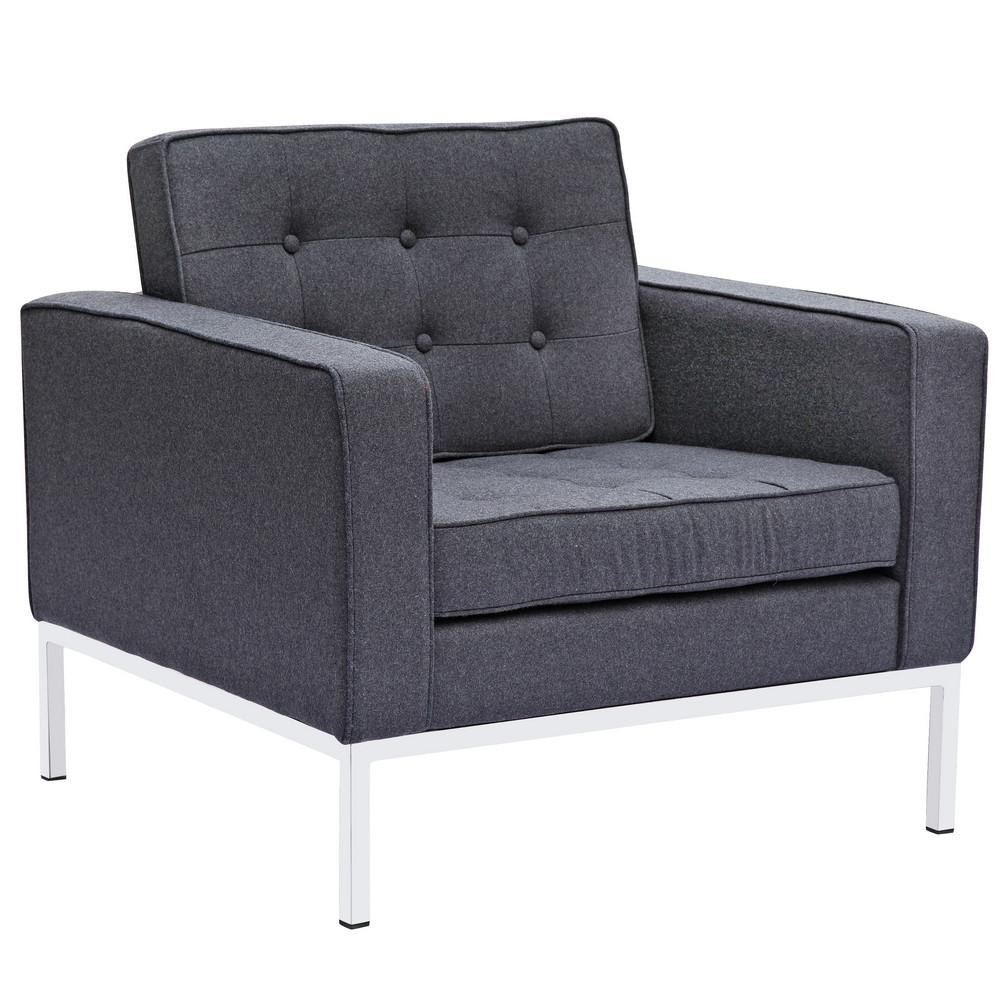 Arm Chair Wool Gray 16778 Product Photo