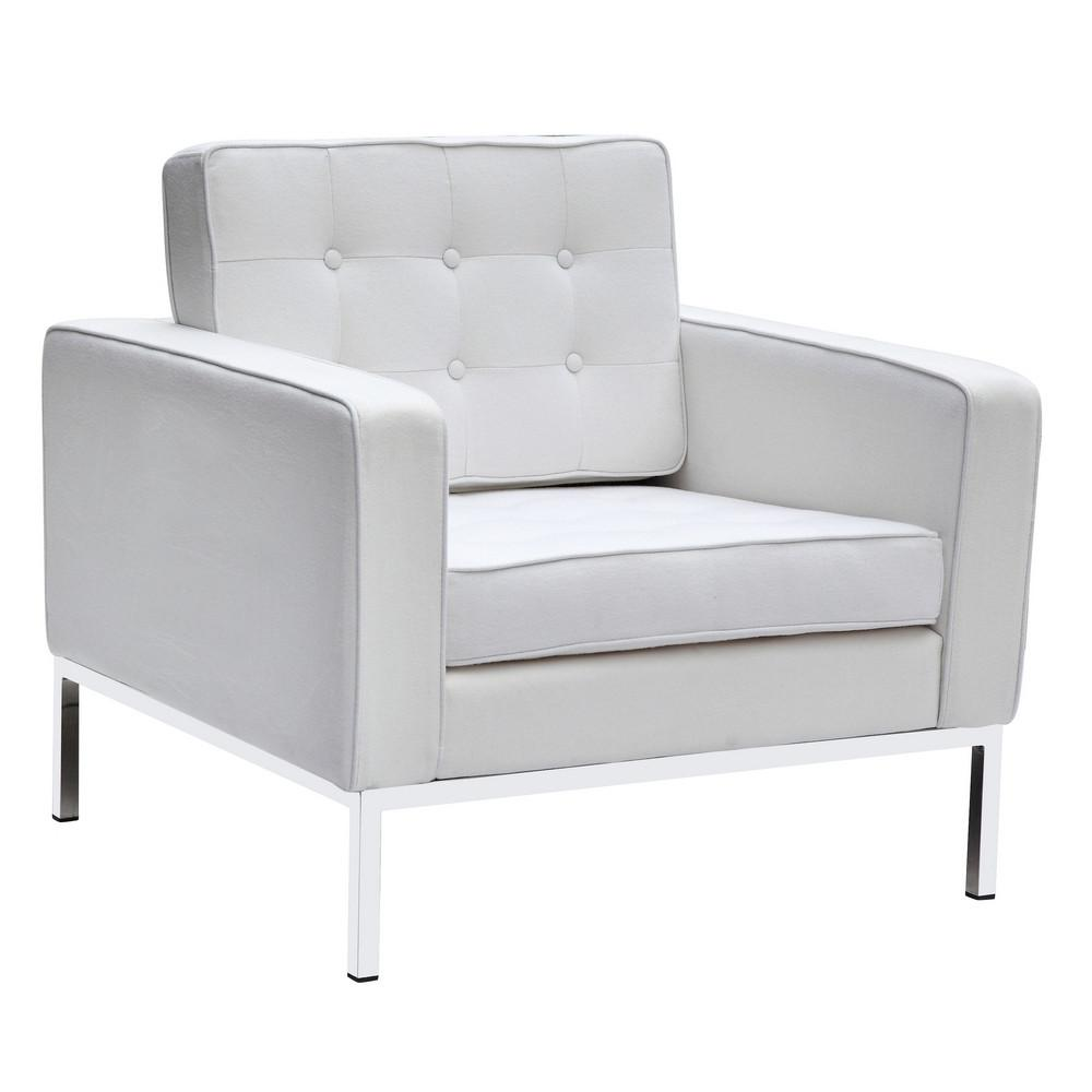 Arm Chair Wool White 16781 Product Photo