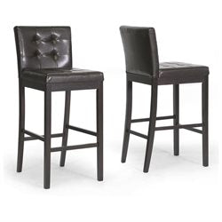 Wholesale Interiors CH4-Dark Brown-PSTL Prospect Brown Modern Bar Stool - Set of 2