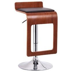 Wholesale Interiors SD-2075-1-walnut/black-PSTL Murl Walnut and Black Modern Bar Stool - Set of 2