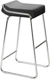 Zuo Modern 300041 Wedge Barstool Color Black Chromed Steel Finish - Set of 2 - BarstoolDirect.com - 1