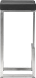 Zuo Modern 300045 Darwen Barstool Color Black Brushed Stainless Steel Finish - Set of 2 - BarstoolDirect.com - 2