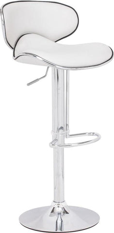 Zuo Modern 300131 Fly Bar Chair Color White Chromed Steel Finish - BarstoolDirect.com - 1