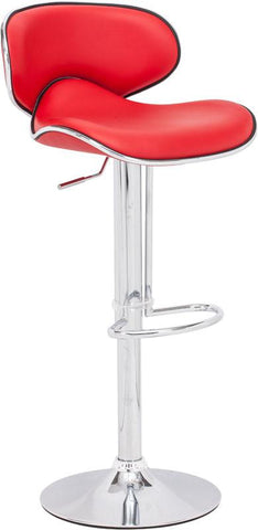 Zuo Modern 300132 Fly Bar Chair Color Red Chromed Steel Finish - BarstoolDirect.com - 1