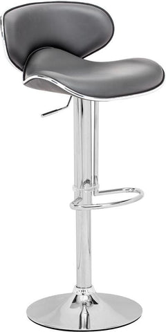 Zuo Modern 300138 Fly Bar Chair Color Gray Chromed Steel Finish - BarstoolDirect.com - 1