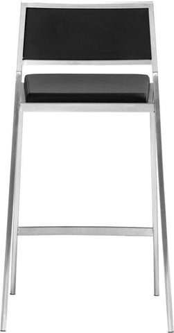 Zuo Modern 300188 Dolemite Counter Chair Color Black Brushed Stainless Steel Finish - Set of 2 - BarstoolDirect.com - 4
