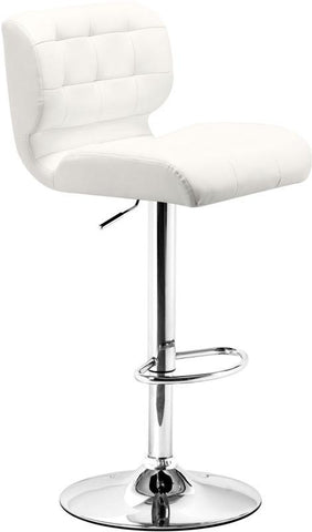 Zuo Modern 300217 Formula Bar Chair Color White Chromed Steel Finish - BarstoolDirect.com - 1