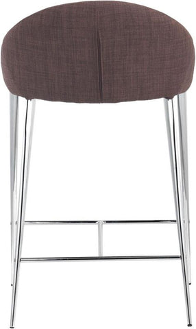 Zuo Modern 300332 Reykjavik Counter Chair Color Tobacco Chromed Steel Finish - Set of 2 - BarstoolDirect.com - 4