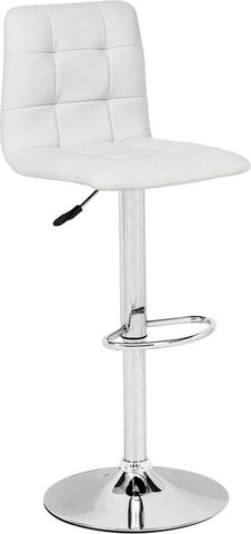 Zuo Modern 301351 Oxygen Bar Chair Color White Chromed Steel Finish - BarstoolDirect.com - 1