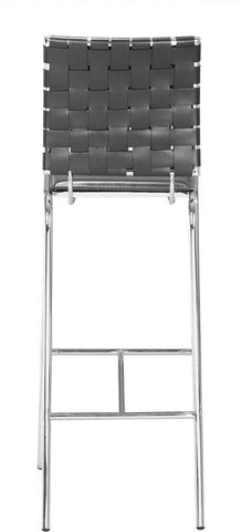 Zuo Modern 333072 Criss Cross Bar Chair Color Black Chromed Steel Finish - Set of 2 - BarstoolDirect.com - 4
