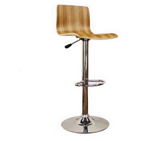Wholesale Interiors M-90053-Nature Lidell Wood Bar Stool - Set of 2