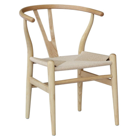Fine Mod Imports FMI4004-walnut Woodstring Dining Chair, Walnut - Peazz.com