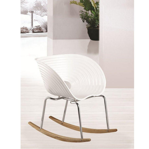 Fine Mod Imports FMI4013-white Vac Arm Rocker Chair, White - Peazz.com - 3