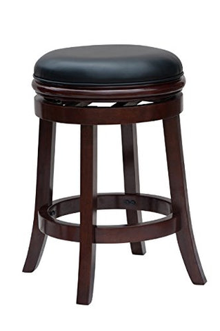 Boraam 44224 Backless Counter Height Stool, 24-Inch, Cherry