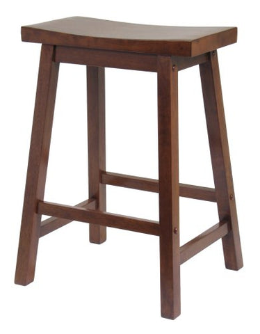 "Winsome Wood 94084 Saddle Seat 24"" Stool, Single, RTA - BarstoolDirect.com"