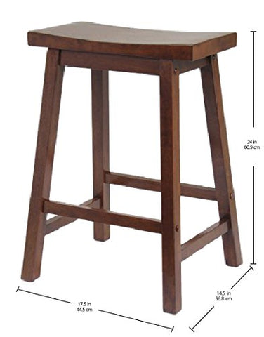 "Winsome Wood 94084 Saddle Seat 24"" Stool, Single, RTA"