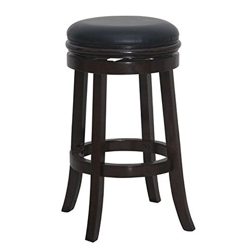 Boraam 44829 Backless Bar Stool, 30-Inch, Cappuccino