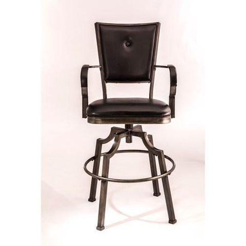 "Hillsdale 5763-830 30"" Castlebrook Swivel Bar Stool - BarstoolDirect"