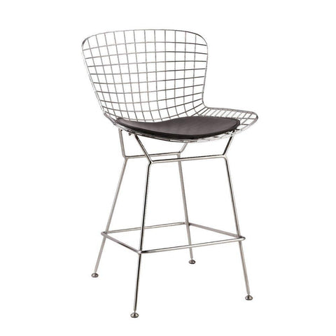Fine Mod Imports FMI2126-black Wire Counter Height Chair, Black