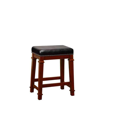 Linon 558121DKCHY01U Kennedy Backless Pu Counter Stool