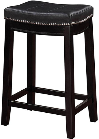 Linon 55815BLK01U Claridge Black Counter Stool