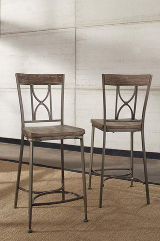 Hillsdale Furniture 5987-823 Paddock Non-Swivel Counter Height Stool - Set of 2