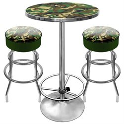 Adg Source Hunt9800-Camo Hunt Camo Gameroom Combo - 2 Bar Stools And Table